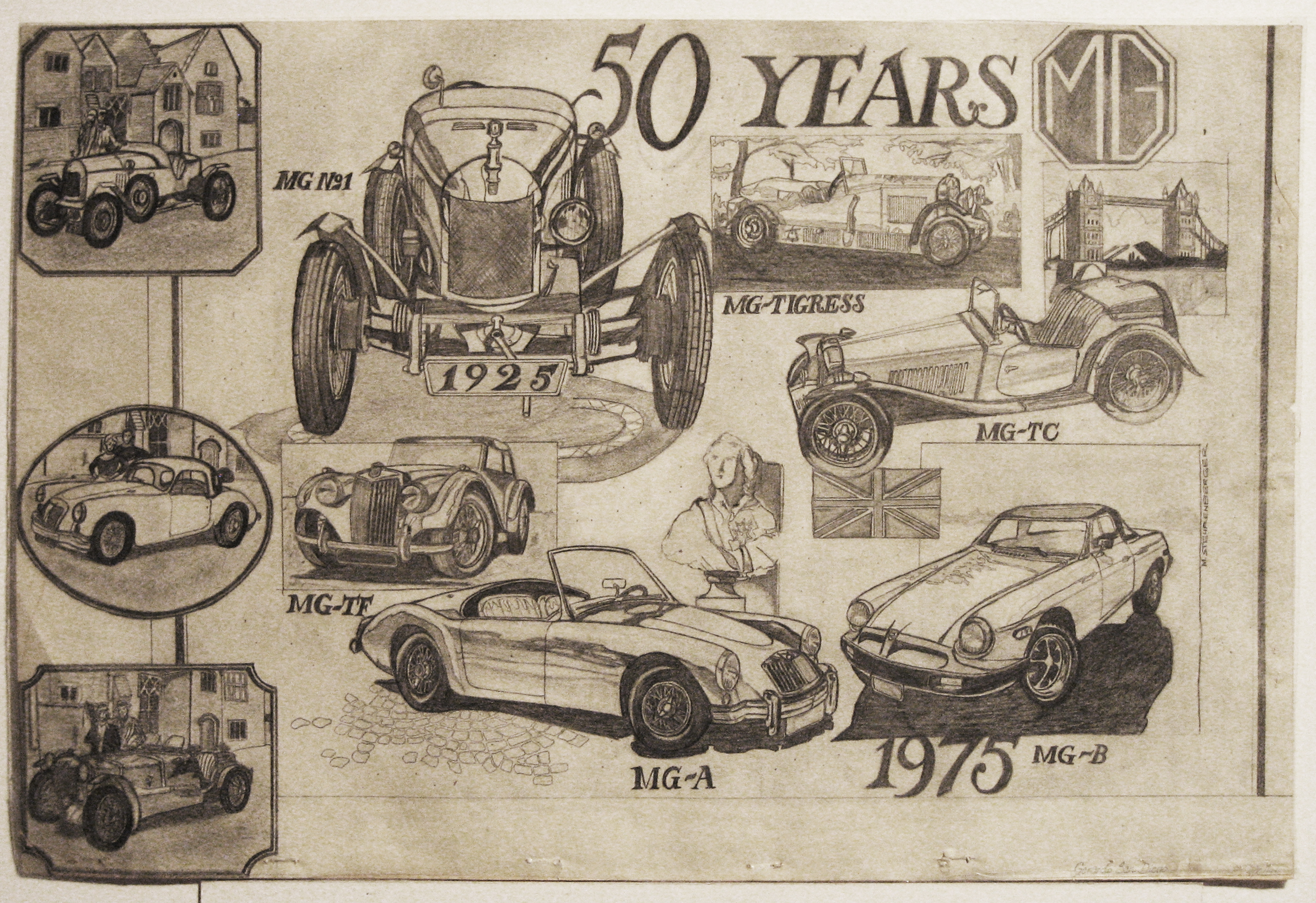 50 Years of MG Auto – Illustration