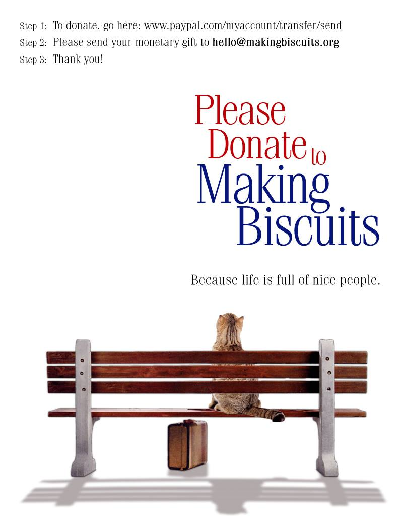 Making Biscuits Forrest Gump Style Poster